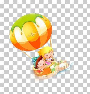Cartoon Parachute Balloon PNG