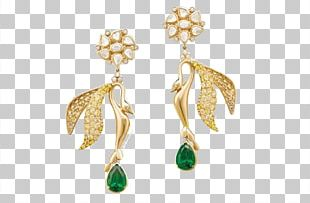 Earring Emerald Jewellery Gemstone Diamond PNG