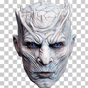 Night King 0 White Walker Mask Halloween Costume PNG