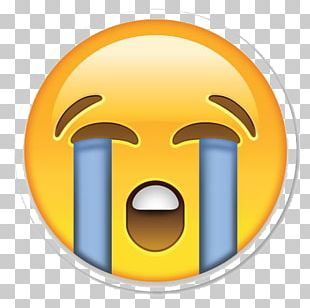 Face With Tears Of Joy Emoji Crying Emoticon Sticker PNG