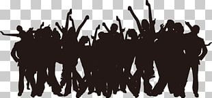 Party Silhouette Poster PNG