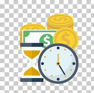 Time Value Of Money Flat Design Finance PNG