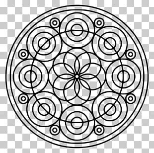 Mandala Coloring Book Circle Shape PNG