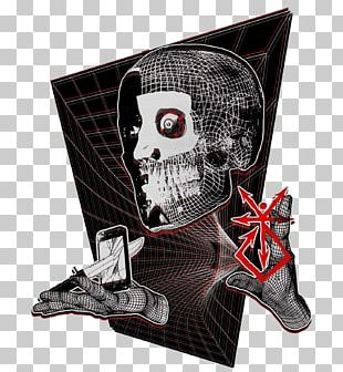 God Blue Rose Skull PNG