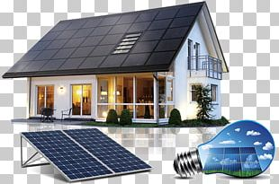 Solar Power Solar Energy Solar Panels Photovoltaic System House PNG