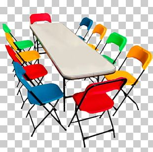 Table Plastic Folding Chair Plank PNG