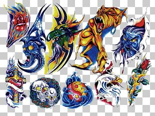 Tattoo Flash Color Human Skull Symbolism Drawing PNG