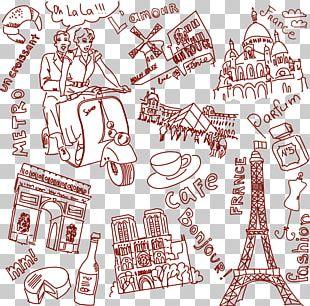 Paris London Drawing Sketch PNG