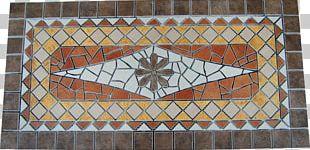 Mosaic Art Rose Window Porcelain Tile Flooring PNG