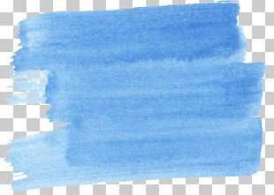 Blue Watercolor Painting Azure PNG