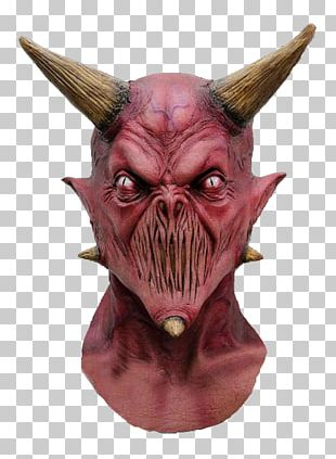Lucifer Latex Mask Costume Party Halloween Costume PNG