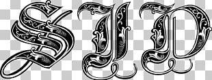 Gothic Alphabet Calligraphy Blackletter Font PNG