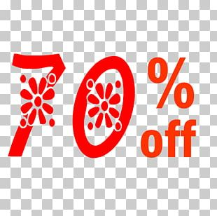 Spring 70% Off Discount Tag. PNG