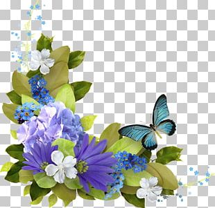 Butterfly Flower Garland PNG