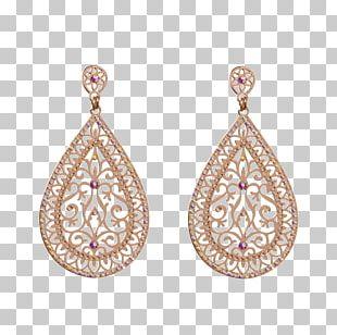 Earring Filigree Body Jewellery Gold PNG