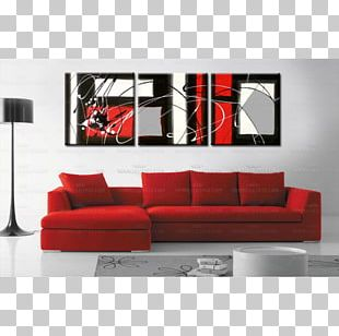 Red Abstract Art Painting Monochrome Photography PNG