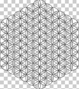 Overlapping Circles Grid Sacred Geometry Pattern PNG