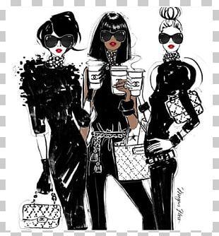 Chanel Fashion Illustration Drawing PNG
