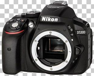 Digital SLR Camera Lens Nikon D5300 Black SLR Digital Camera 2.3 KG Single-lens Reflex Camera PNG