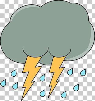 Cloud Rain Lightning Storm Thunder PNG