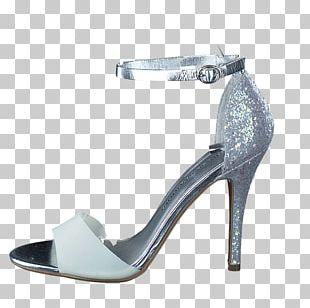 Sandal Shoe Stiletto Heel Blue White PNG