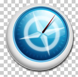 Clock Electric Blue Circle PNG