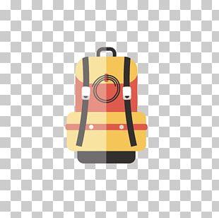 Cartoon Flat Design Backpack PNG