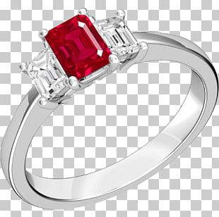 Ruby Engagement Ring Gold Wedding Ring PNG
