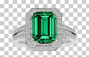 Emerald Ring Gemstone Birthstone Beryl PNG