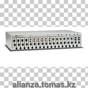 Fiber Media Converter Multi-mode Optical Fiber Computer Network Allied Telesis PNG
