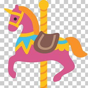 Horse Emoji Carousel SMS Unicode PNG