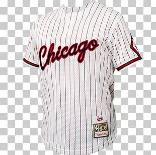 Sports Fan Jersey T-shirt Mitchell & Ness NBA Chicago Bulls Baseball Uniform PNG