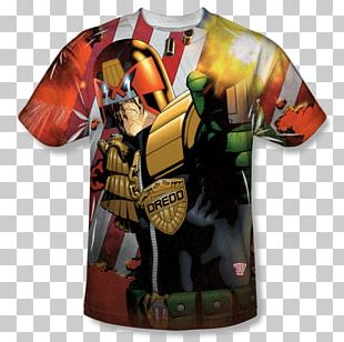 Judge Dredd T-shirt Comic Book Male PNG