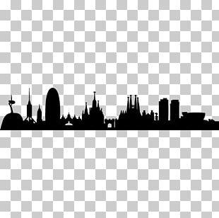 Barcelona Skyline Silhouette PNG