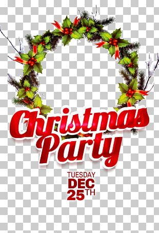 Christmas Party Poster Santa Claus Gift PNG
