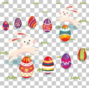 Easter Bunny Easter Egg Rabbit Illustration PNG
