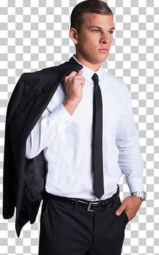 Tuxedo Dress Shirt Blazer Collar Shoulder PNG
