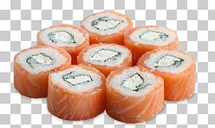 California Roll Smoked Salmon Makizushi Sushi Philadelphia Roll PNG