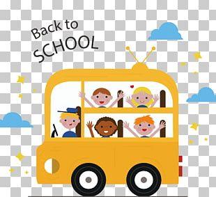 Bus School Child Euclidean PNG