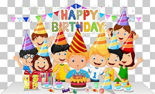 Birthday Cake Party Cartoon PNG