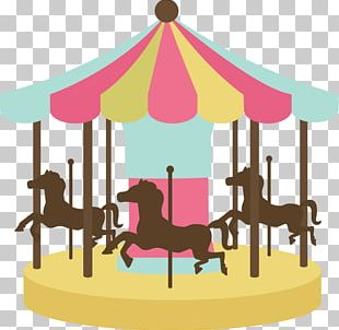 Horse Carousel Amusement Ride PNG