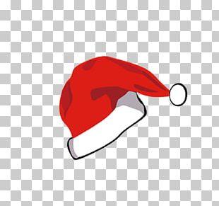 Santa Claus Hat Christmas Cartoon Drawing PNG