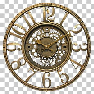 Banjo Clock Gear Wall Antique PNG