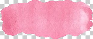 Watercolor Painting Pink Brush Purple PNG