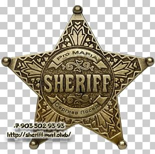 Sheriff Badge American Frontier Police United States Marshals Service PNG