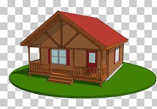Log Cabin House Plan Cottage Chalet PNG