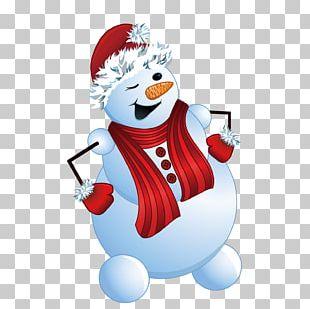 Cartoon Winter Snowman PNG