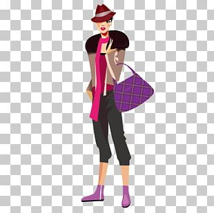 Fashion Girl Drawing Sketch PNG