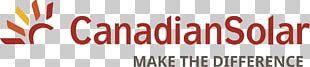 Canadian Solar Solar Panels Solar Power Solar Energy Photovoltaics PNG
