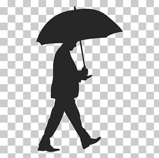 Silhouette Umbrella Drawing PNG